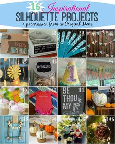 16 Inspirational Silhouette Projects from unOriginal Mom - great for beginners!