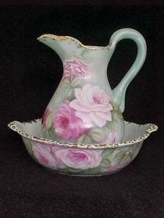 Beautiful Pitcher & Wash Bowl Set:)