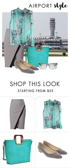 """""""Traveling Incognito"""" by christined1960 ❤ liked on Polyvore featuring WtR, Versace, Dasein and Ray-Ban"""