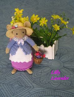 Brambly Hedge   Lilly Lavender mouse by dollsandbunnies on Etsy