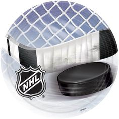 "NHL Ice Time 7"" Dessert Plates 8 Pack by NHL. $4.90. One package of 8 NHL Hockey Party Paper 7"" Cake/Dessert Plates.. NHL Hockey Party 7"" Cake/Dessert Plates.. From the NHL Party Supply Collection. NHL Ice Time Dessert Plates. Your hockey themed party will last more than three periods with these awesome plates! Featuring a hockey puck and hockey stick with a net in the background, and the NHL logo. Each package includes eight 7"" paper plates."