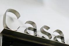 Casa da Musica - stainless steel lettering - Porto subway