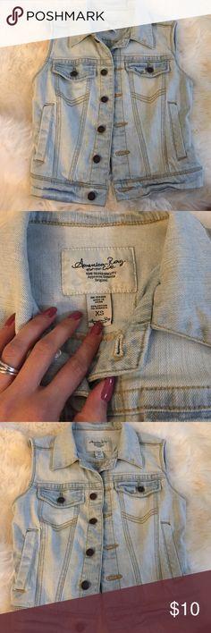 American Rag Denim Vest XS Great condition. Light wash Jackets & Coats Vests