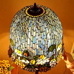Stained Glass Floor Lamp, Stained Glass Light, Stained Glass Crafts, Stained Glass Patterns, Mosaic Glass, Traditional Exterior, Glass Artwork, Tiffany Lamps, Soldering