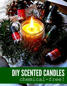 Don't miss out candles this holiday season because of the chemicals.. Enjoy making your own DIY scented candles with this easy tutorial.