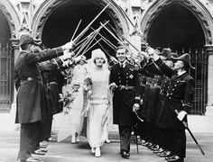 Heiress Edwina Ashley and Lord Louis Mountbatten on their wedding day, 1922. (AP)