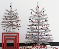 silver christmas trees ideas tabletop christmas tree ideas