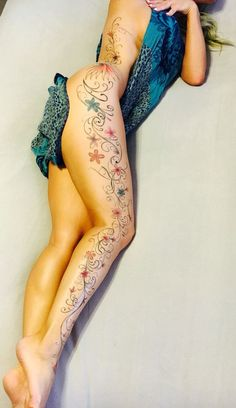 Image result for full leg tattoos female