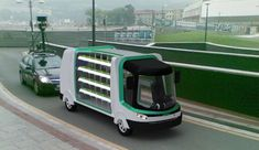 Urban Hydroponic Bus Delivers Fresh Food and Water   #hydroponics
