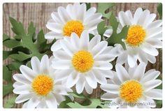DIY paper flower - daisy  http://blog.naver.com/101kaikei/220166201817