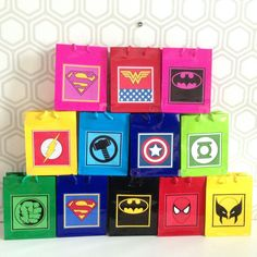 Superhero Super Hero Lolly Boxes Loots Party Favours Birthday Supplies Gift Bags