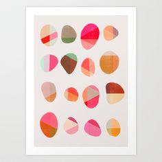 Painted Pebbles 5 Art Print by Garima Dhawan - $18.00