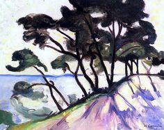 Pinewood by the Water at Trayas Charles Camoin - 1906. Charles Camoin[p] was a French painter associated with the Fauves. Born in Marseille, France, Camoin met Henri Matisse in Gustave Moreau's class at the Ecole des Beaux Arts in Paris.