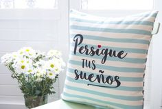 "Funda cojín: ""Persigue tus sueños"""