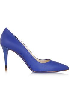 Fendi Leather pumps | NET-A-PORTER Also available in a lovely orange
