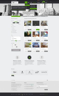 Web Design: Luxury Real Estate PSD Theme on Behance