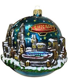 chicago christmas ornament chicago christmas christmas music christmas balls christmas tree ornaments - Chicago Christmas Ornament