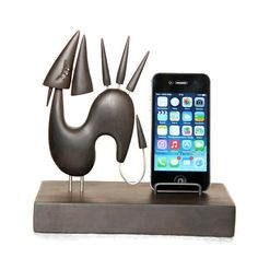 Wooden Dragon phone stand FREE SHIPPING by GalleriaCentral on Etsy, $69.00