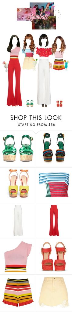 """""""[MV] Gumball_Girl Crush"""" by girlcrush-official ❤ liked on Polyvore featuring Dolce&Gabbana, Sergio Rossi, Charlotte Olympia, MSGM, Emilia Wickstead, Antonio Berardi, River Island, TIKI, H.I.P. and gumballera"""