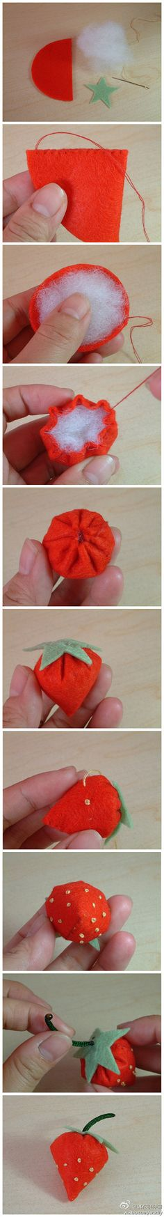 It's always good to know how to make a felt strawberry :)
