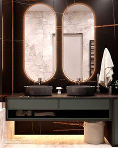 WARM on Behance Bathroom Design Luxury, Modern Bathroom Decor, Home Interior Design, Wall Design, House Design, Modern Master Bedroom, Vanity Design, Home Remodeling Diy, Toilet Design