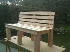 180463 1682080770010 6680512 n 600x450 Pallet bench / panchina in pallet garden  with pallet Bench
