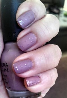 Simple & Subtle Nail Art Design Sephora by OPI Call your mother. OPI Matte Top Coat and Seche Vite top coat for tips and dots