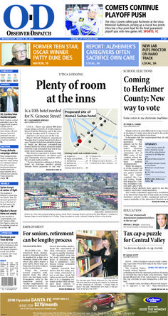 The front page for Wednesday, March 30, 2016: Plenty of room at the inns