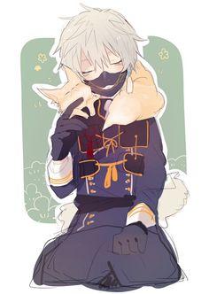 なききつね Touken Ranbu Nakigitsune, Naruto Oc, Hot Anime Guys, Manga Boy, Character Art, Chibi, Sorting, Sword, Anime Art