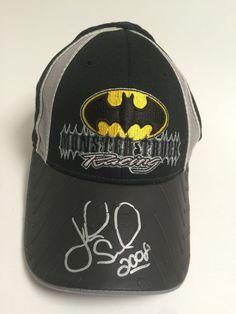 Batman Hat DC Comics Autographed John Seasock 2008 youth hat Monster Truck Jam #BaseballCap