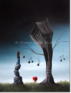 Now And Forever In Love With You SURREAL ART PRINT di shawnaerback