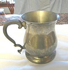 Vintage English pewter tankard for sale at More Than McCoy at http://www.morethanmccoy.com