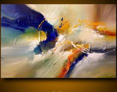 "Large abstract painting by Dan Bunea: ""Someday"", 80x120cm or 32x48in, acrylics on canvas, for sale"