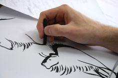 Latidos en ocre. Álbum ilustrado de Manuel Mantecón. Work in progress Bison, Deathly Hallows Tattoo, Triangle, Tattoos, Tatuajes, Tattoo, Tattos, Tattoo Designs
