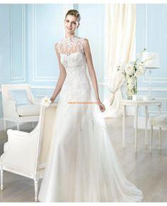 Robe de mariée 2014 évasée tulle application avec boléro