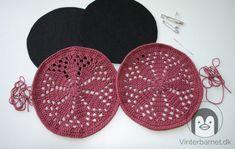 Gratis opskrift på hæklede stjerne bordskåner - Vinterbarnet Crochet Earrings, Threading