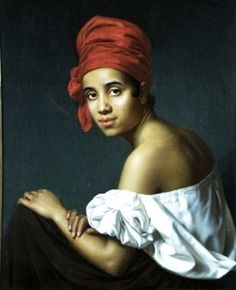 Creole in a Red Turban by Jacques Guillaume Lucien Amans