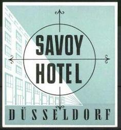 Düsseldorf, Savoy Hotel, Hotelgebäude Luggage Stickers, Savoy Hotel