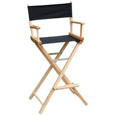 Gold Medal 30 in. Commercial Bar Height Director Chair - Personalization Option - 3030