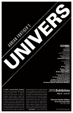 UNIVERS Specimen Poster by John Duncan, via Behance