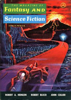 "The Magazine of Fantasy and Science Fiction, September 1958, cover by Emsh. ""Have Space Suit - Will Travel"" [2/3] by Robert A. Heinlein."