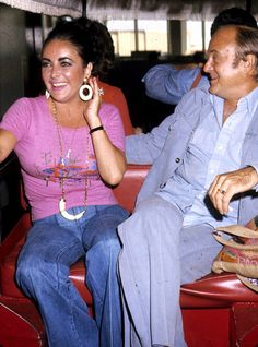 Elizabeth Taylor with Dr. Lou in 1976.