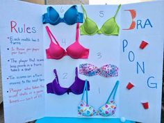 The Busy Broad: Bra Pong---I had not even THOUGHT of a poolside bachelorette party yalllllll!! (Wendy? Thoughts?