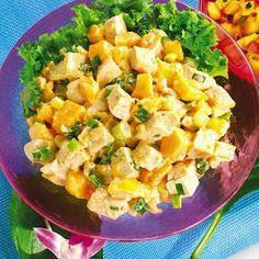 Liw carb curried mango chicken salad