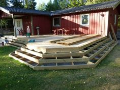Find Local Deck Builders and Contractors Outdoor Pergola, Outdoor Rooms, Outdoor Living, Outdoor Decor, Above Ground Pool Decks, In Ground Pools, Mobile Home Deck, Wainscoting Wall, Patio Steps