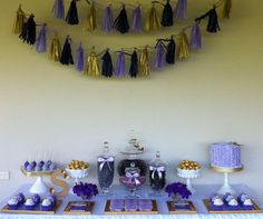 Purple, Gold and Butterflies Birthday Party Ideas | Photo 3 of 11 | Catch My Party
