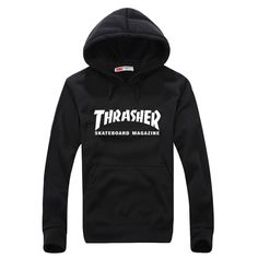 Dmart7deal Fleece Trasher Hoodie Hip Hop Skateboard thrasher Hoodie Men Sweatshirts Pullover Track suit Element Hoodies