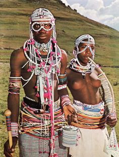 A Xhosa couple, South Africa. A Xhosa couple, South Africa.