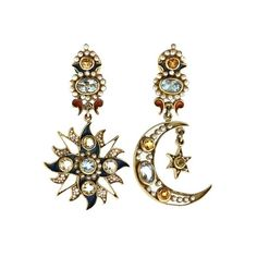 DIEGO PERCOSSI PAPI - NORTH STAR AND CRESCENT MOON EARRINGS (4.655 VEF) ❤ liked on Polyvore featuring jewelry, earrings, accessories, brincos, pearl earrings jewellery, pearl earring set, pearl jewellery, white pearl earrings and pearl jewelry