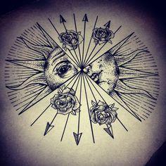 dotwork tattoo elbow - Sök på Google
